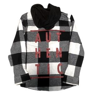 George Button Up Hoodie NWT